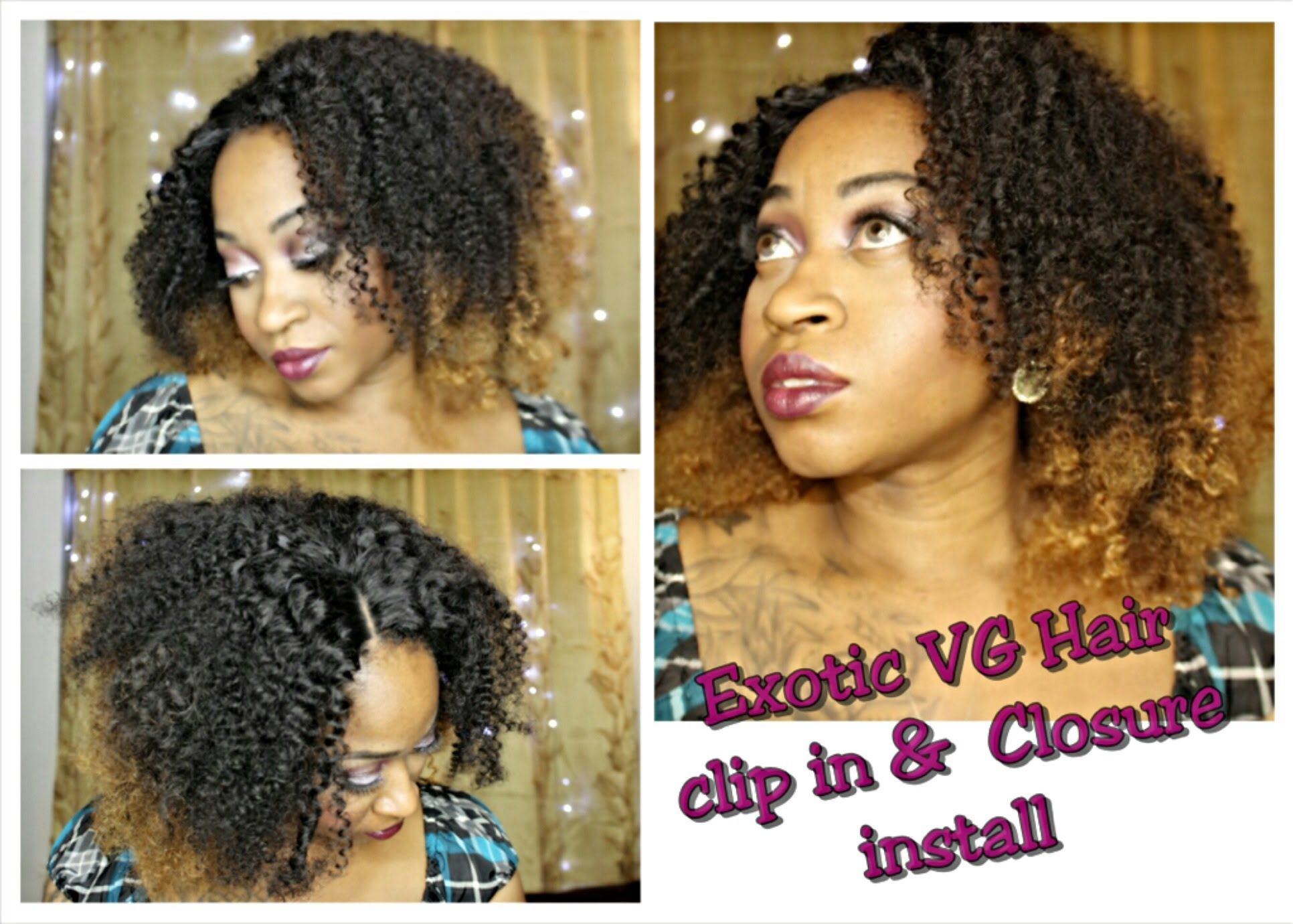 How To Full Easy Install Natural Hair Clip In Extensions No Sew