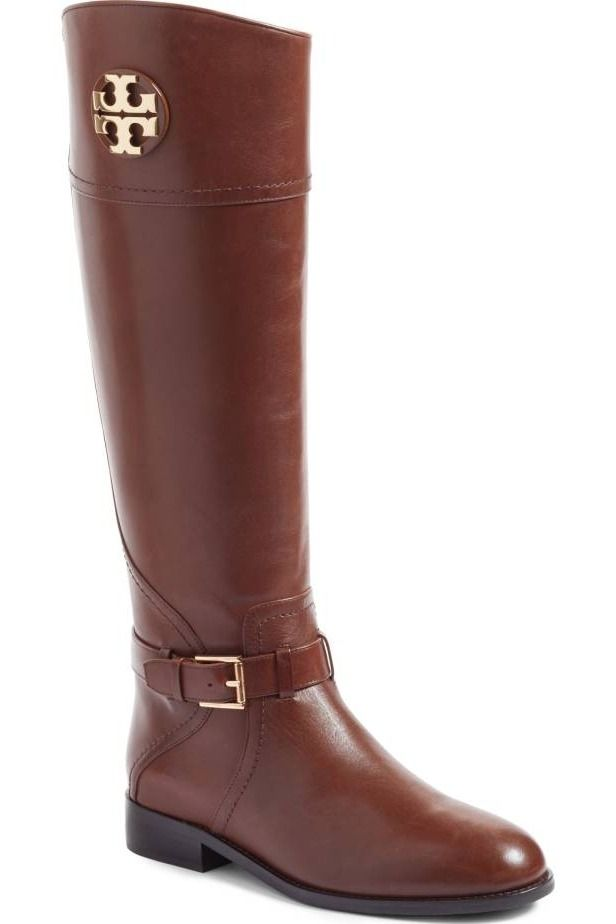 945ba3e5c197b These classic Tory Burch boots in a rich brown will be perfect for fall!  This Anniversary Sale find will pair perfectly with denim and sweaters.