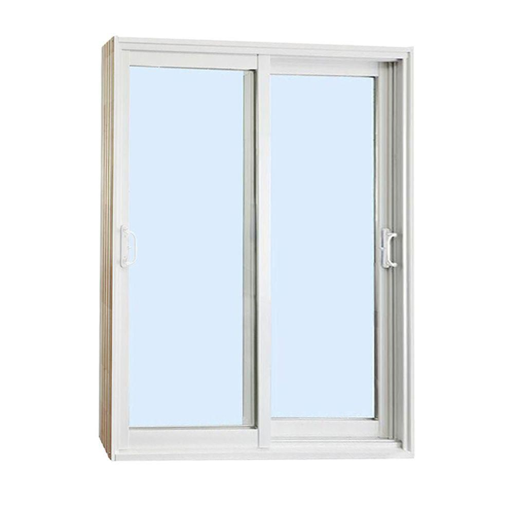 Stanley Doors 60 In. X 80 In. Double Sliding Patio Door Clear Low E    500001   The Home Depot