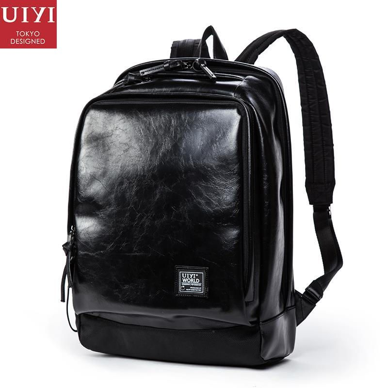 749c2e088752 UIYI Fashion Men Women PU Leather PVC Travel Backpack Mochila Vintage Men  Travel Casual Laptop Bag