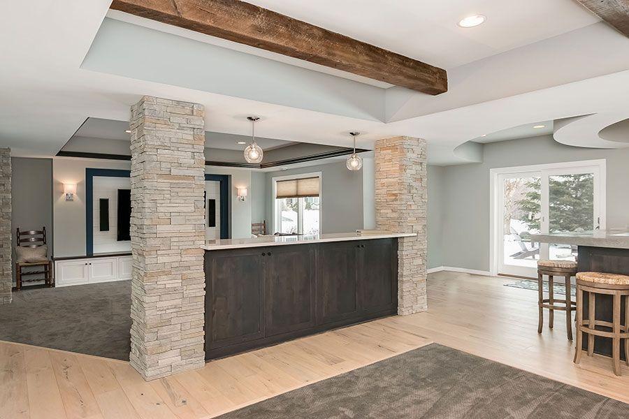 basement walk out knee wall | Basement design, Basement ...