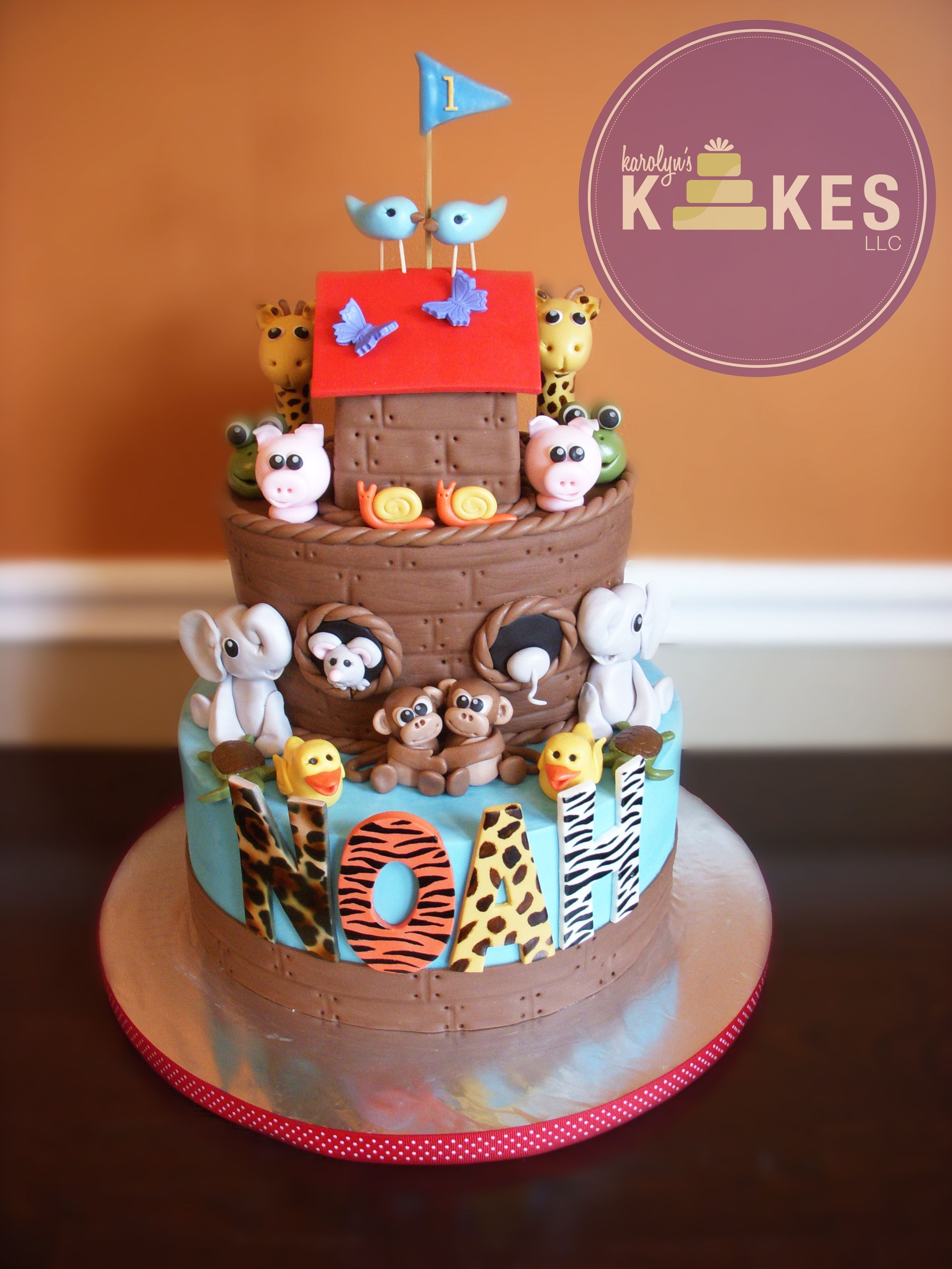 Noah S Ark Cake Ark Is Cake Covered In Chocolate Marshmallow