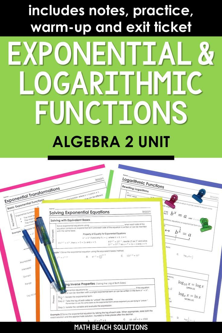 Unit 10 + Activities Exponential & Logarithmic Functions
