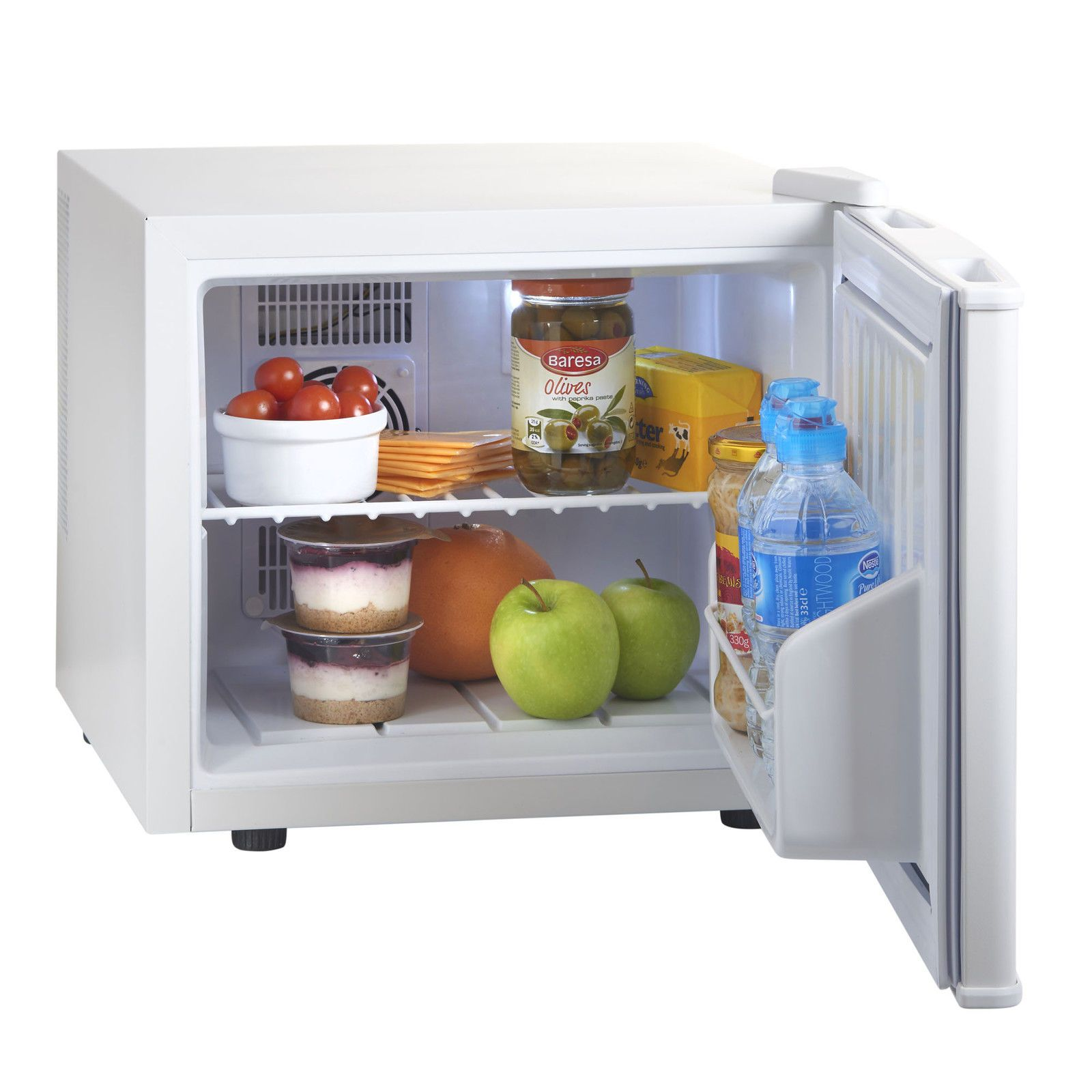 VonShef Mini 17 Litre White Travel Fridge Table Top Bar Refrigerator ...