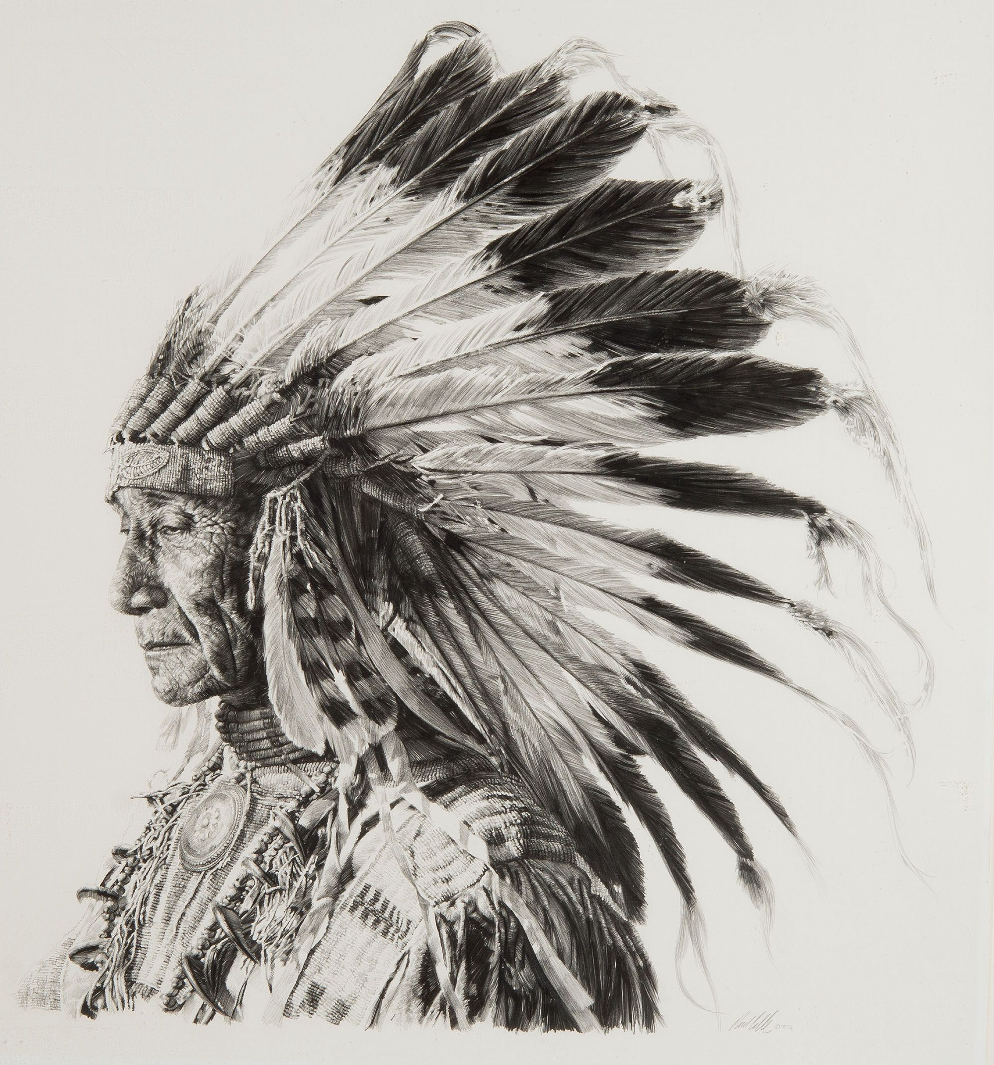 556561d7f Paul_Calle-Sioux, Indian_Chief | Drawings / Sketches / Preliminaries ...