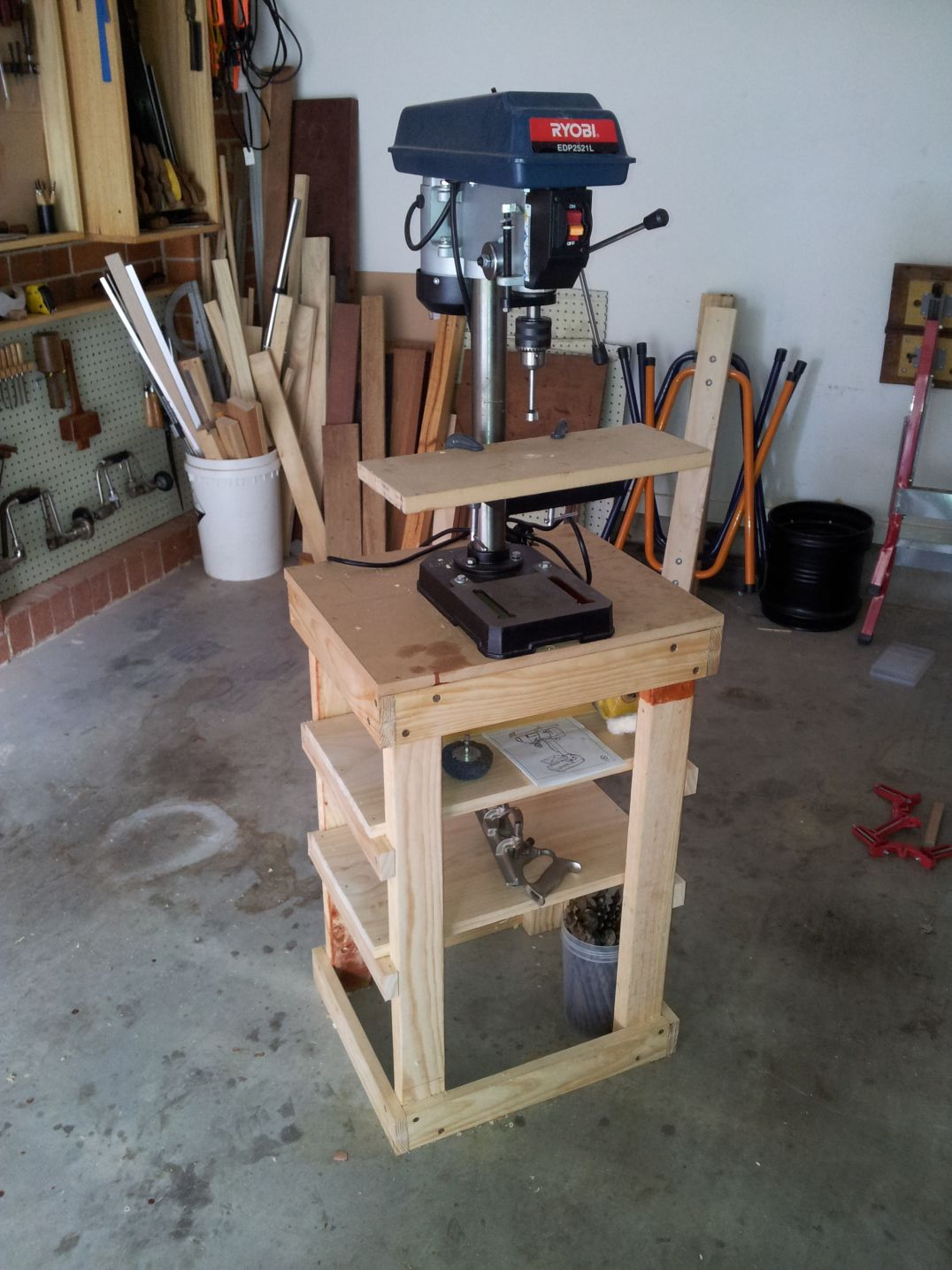 Drill Press Stand The Woodwork Geek Wood Work Plans In