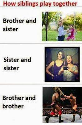 Funny Pictures Jokes And Gifs Animations How Sibling Fights And Play Together Funny Picture Sister Quotes Funny Funny Pictures Sibling Memes
