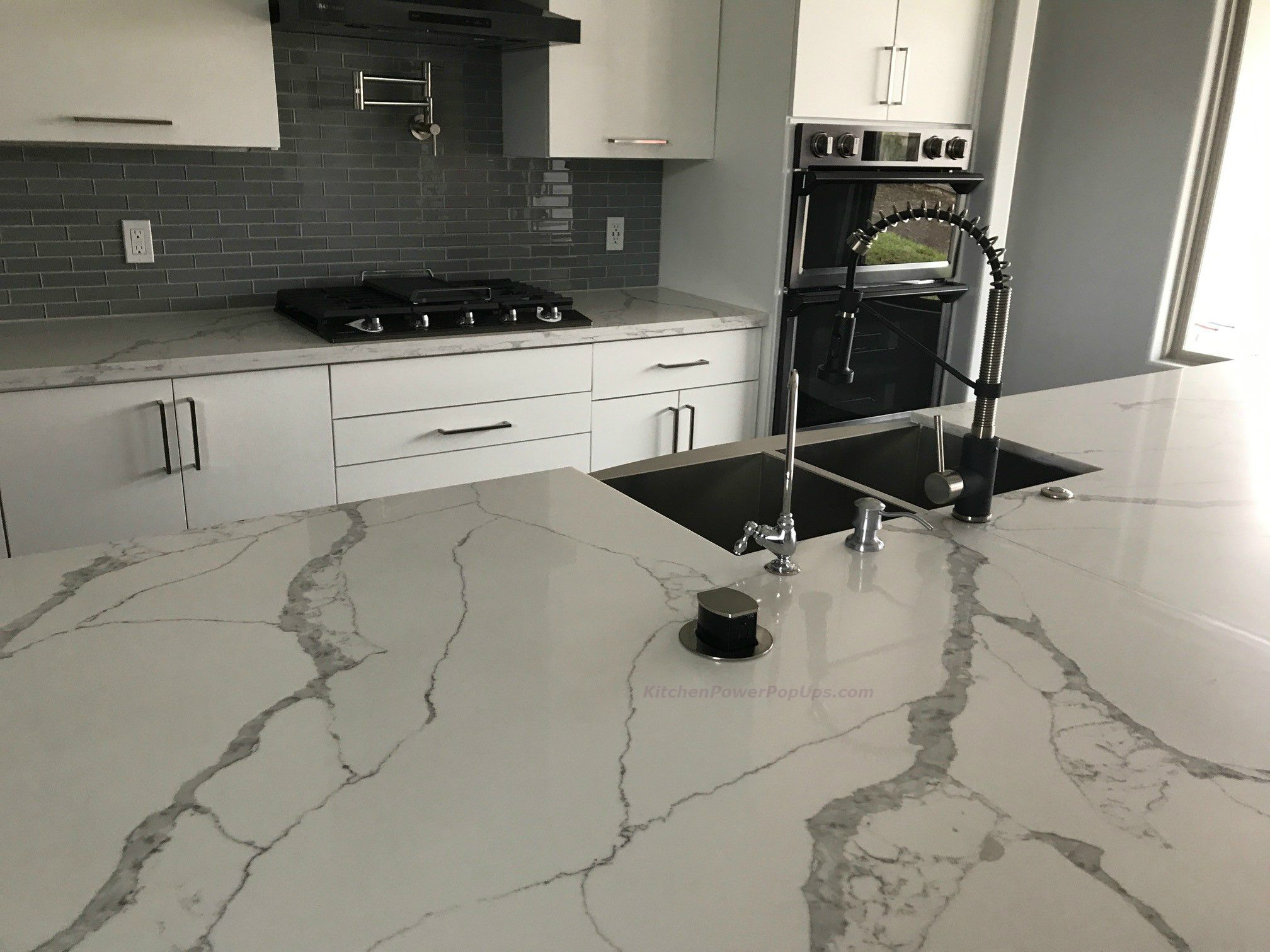 Countertop 2 Sided Spill Proof Pop Up 15a Outlet Surface Mount Nickel Countertops Pop Up Outlets Kitchen Remodel