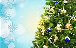 Weihnachtsbaum, Urlaub, Dekoration, Spielzeug, Kugeln, Schneeflocken