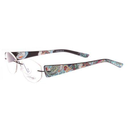 Ed Hardy EHL-818 Lite Designer Eyeglasses - Silver | Products ...