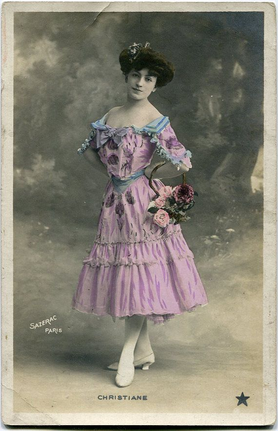 Vintage French photo postcard  Actress miss Christiane