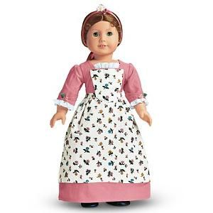 Off-White Apron from Work Outfit American Girl Felicity Doll Cream