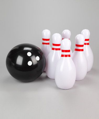 Take A Look At This Inflatable Bowling Set By Metro Design On Zulily Today Inflatable Bowling Kids Play Area