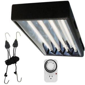 Viavolt 4 Ft T5 High 4 Bulb Output Black Fluorescent 400 x 300