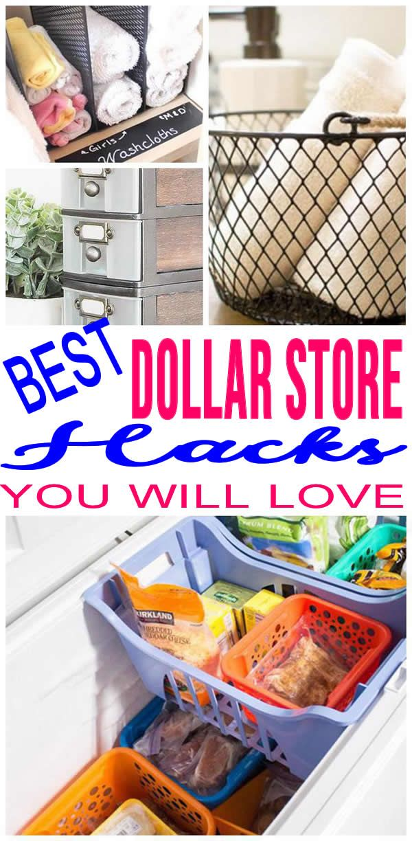 DIY Dollar Store Hacks Craft storage, Dollar store hacks