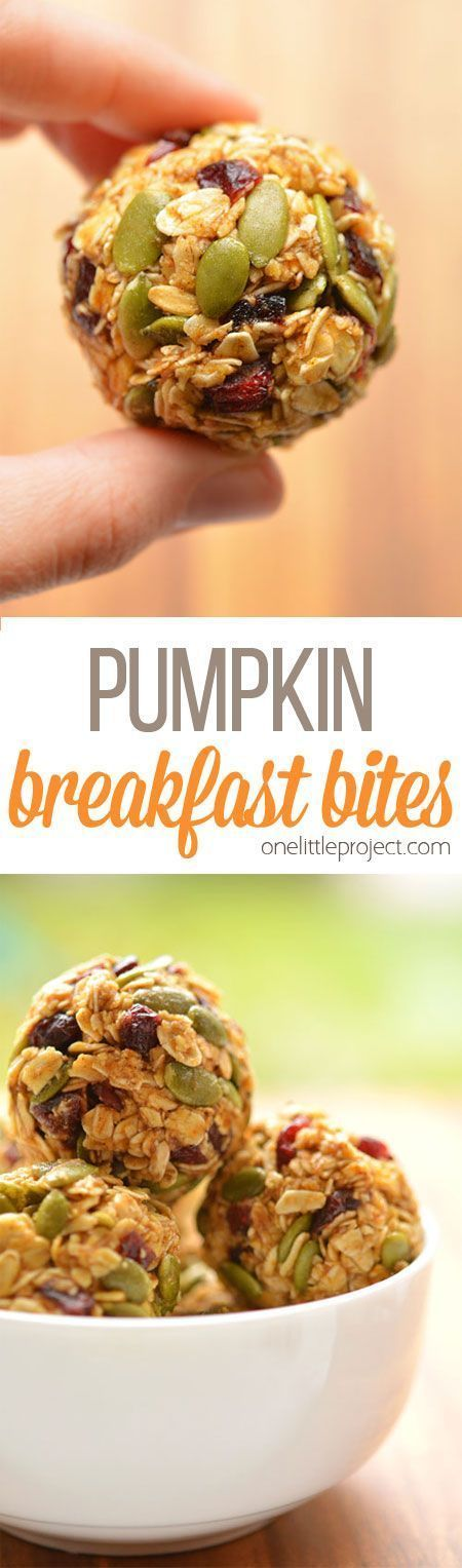 Bites These no-bake pumpkin breakfast bites are SO EASY! Packed with pumpkin, pumpkin seeds and dried cranberries they taste amazing and actually keep you full! Great for breakfast on the go!These no-bake pumpkin breakfast bites are SO EASY! Packed with pumpkin, pumpkin seeds and dried cranberries they taste amazing and actually keep you full!...