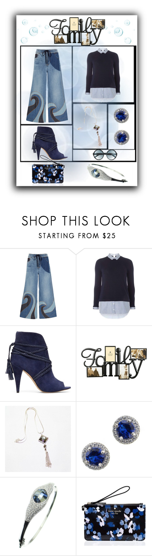 """""""Style Me #Denim"""" by freida-adams ❤ liked on Polyvore featuring RED Valentino, Dorothy Perkins, Vince Camuto, Kate Spade, Tom Ford, denim and bellastreasure"""