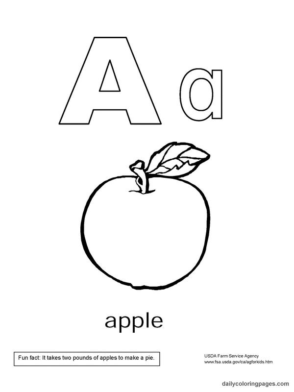 california alphabet coloring book - Alphabet Coloring Books