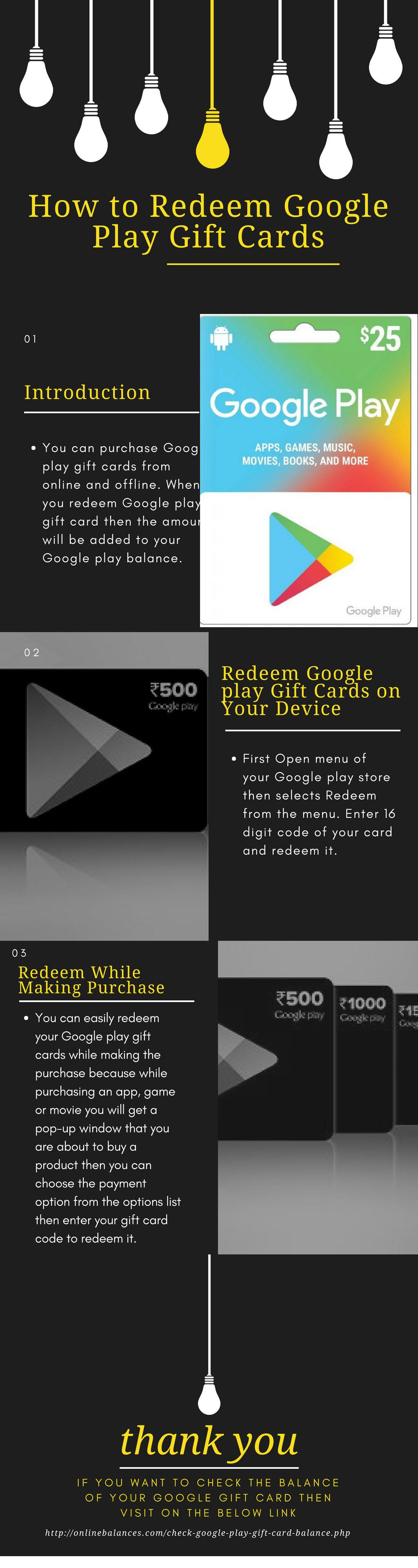 How to Redeem Google Play Gift Card Online Balance