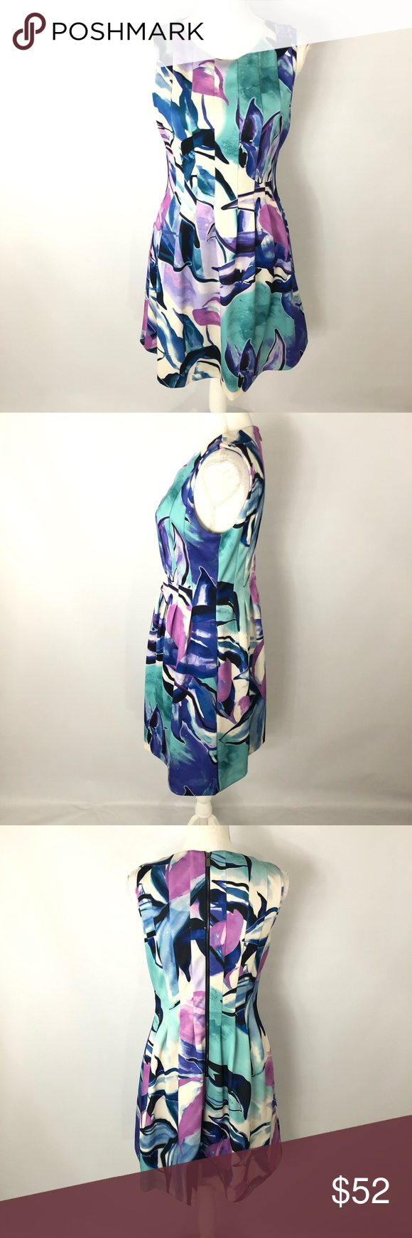 9cad6d63985fd Colorful, pleating, light material. EUC. Measurements are flat lay. Pit to  Pit 17 Waist 15 Length 35 1/2 07-1118-105 Vince Camuto Dresses