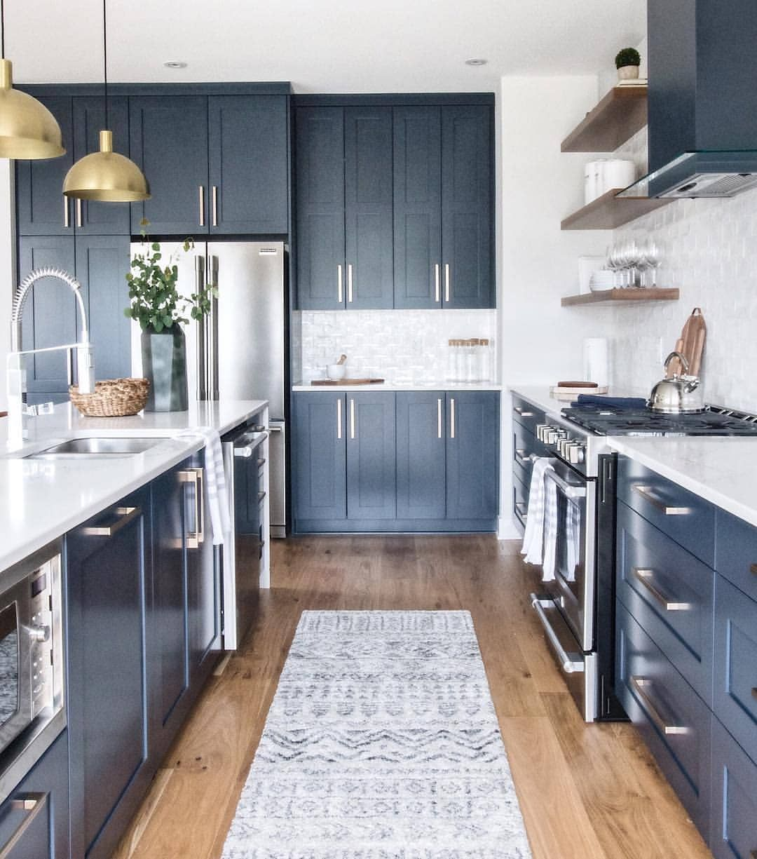 Cabinets Up To The Ceiling Make The Space Look Larger And More Storage Is Achieved Pretty Color For The Cabinets Kitchen Addition Kitchen Kitchen Cabinets