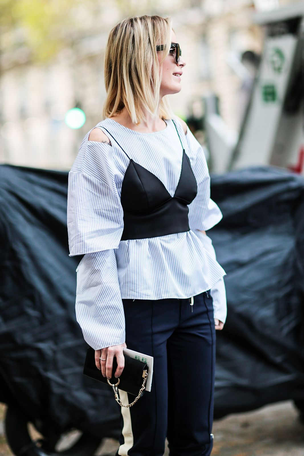 The Best Street Style At Paris Fashion Week SS17 #refinery29  http://www.refinery29.uk/2016/10/124657/street-style-paris-fashion-week-ss17#slide-22  More tips on how to layer up your summer wardrobe for the colder months....