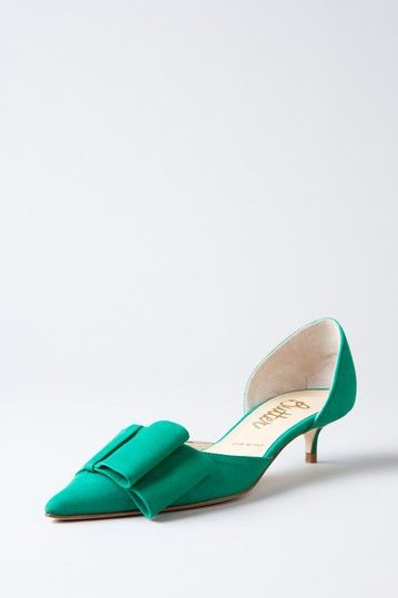eb13159c62 Butter Samurai Pointed Toe Kitten Heel | Colorful Life - #Green With ...