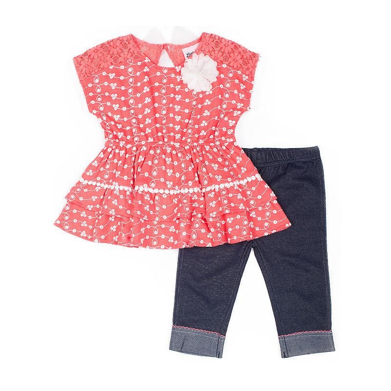 fa7270213f5e Little Lass 2-pc. Legging Set-Baby Girls in 2019 | Products | Tops ...