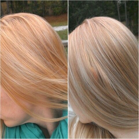 Hair Toned With Equal Parts Wella T18 T28 And 20 Volume