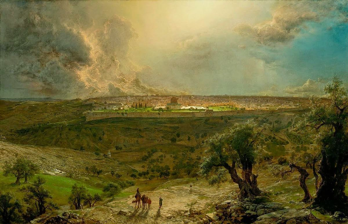 Jerusalem from the mount of olives by frederic edwin