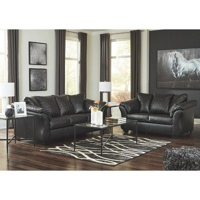 Best Betrillo Full Sofa Sleeper Black Signature Design By Ashley In 2019 Leather Living Room Set 640 x 480