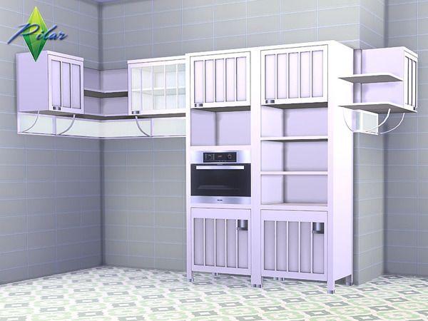 Pilar's Sassi Cabinet | sims 4 kitchen n bathrooms | Sims ...