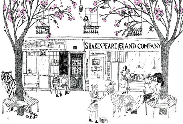 Shakespeare and Company Paris - in full bloom