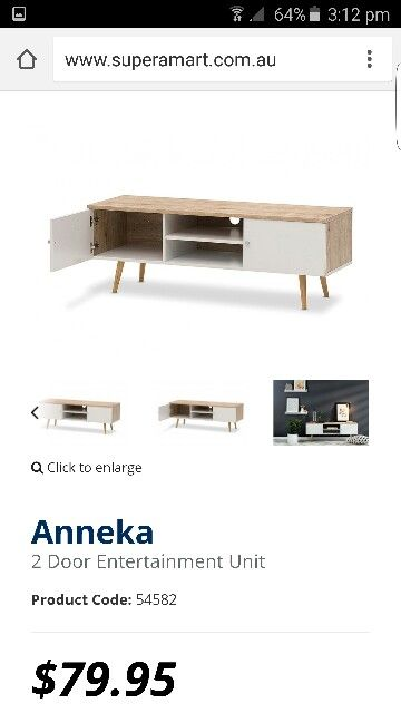 Anneka White Natural Wood Entertainment Unit from AMART | Lounge ...
