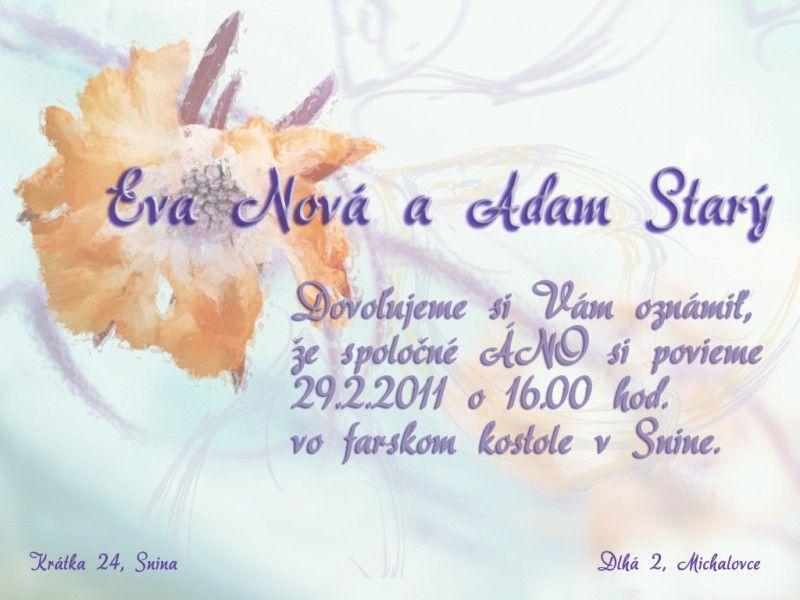 Svadobné oznámenie - SO020