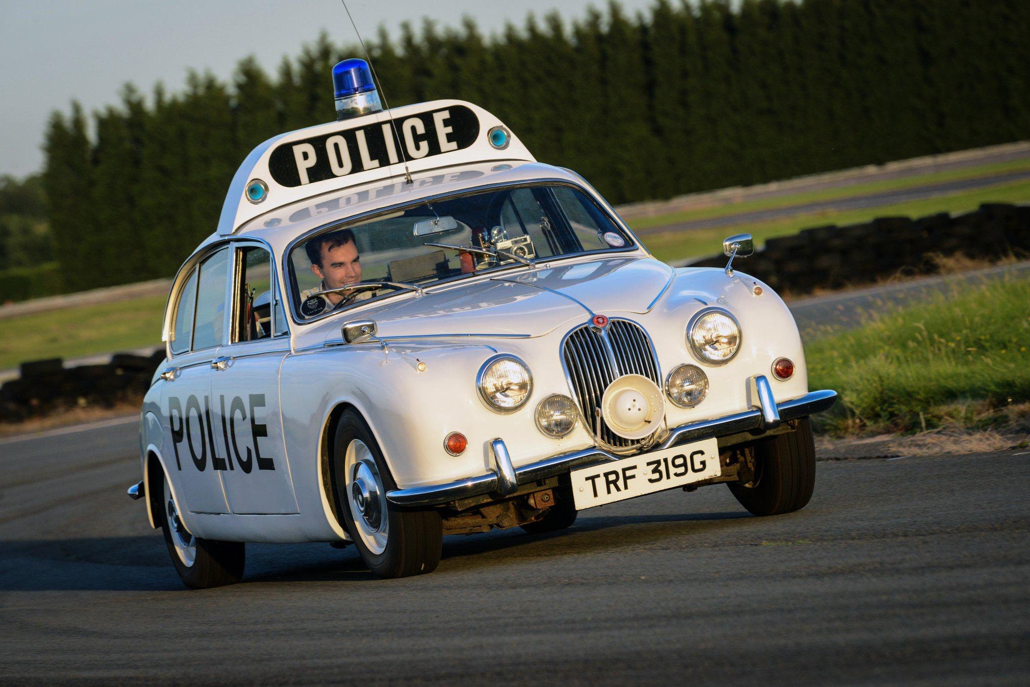Restored former motor patrol  Jaguar