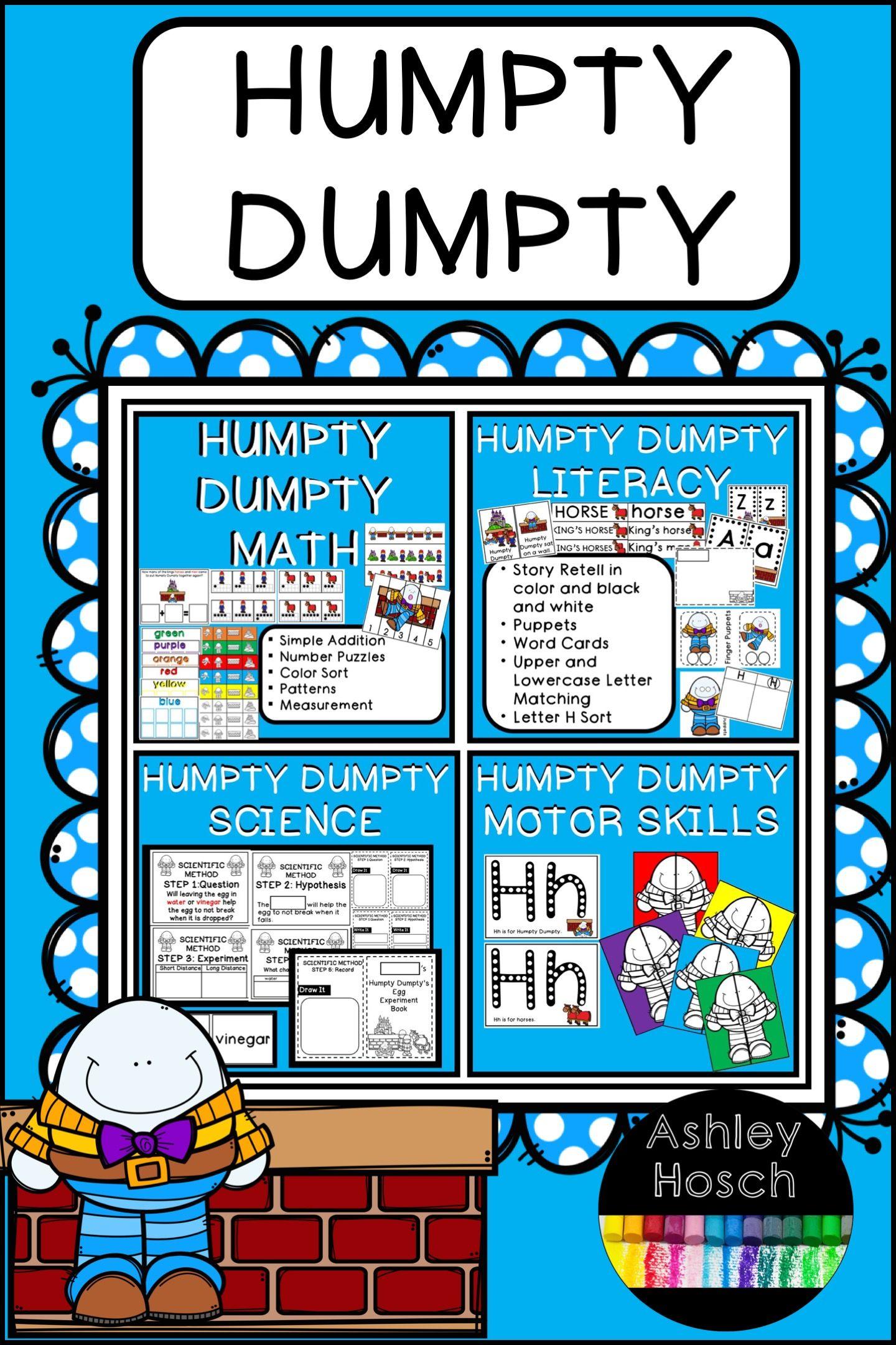 Humpty Dumpty Thematic Unit For Preschool Prek