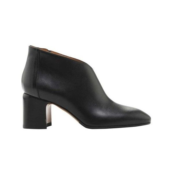 Women's Aquatalia Elodina Calf ($450) ❤ liked on Polyvore featuring shoes,  boots, black, casual, leather boots, mid calf black leather boots, black  boots, ...