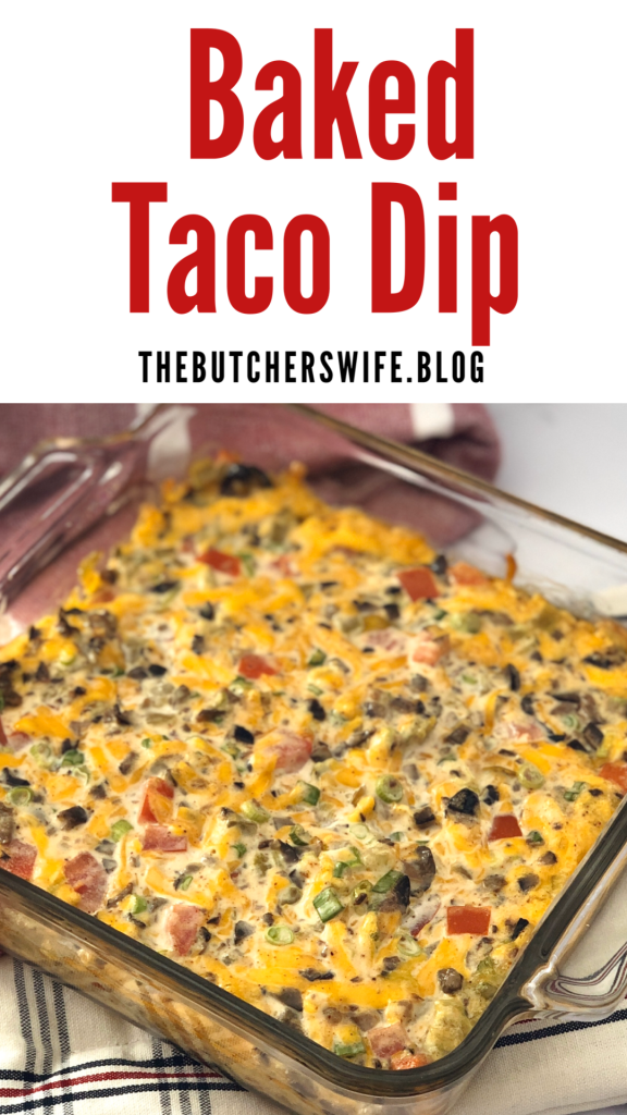 Baked Taco Dip is a warm dip that is perfect for Game Day #tacodip