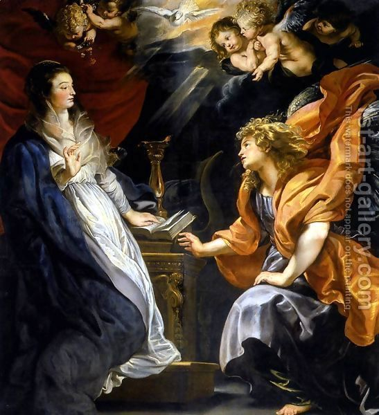 Annunciation 1609-10 by Peter Paul Rubens
