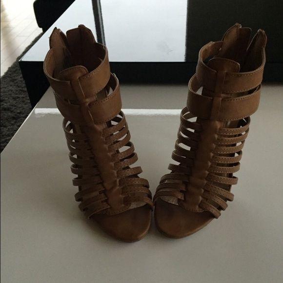 Brown high heels size 6 1/2 Madden Girl Cute brown high heels. Size 6 1/2. Only worn once! Madden Girl Shoes Heels