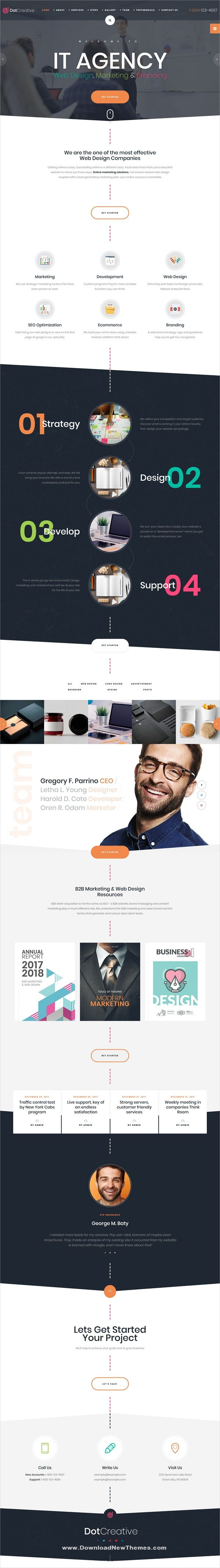 Dotcreative Web Design Agency Html Template
