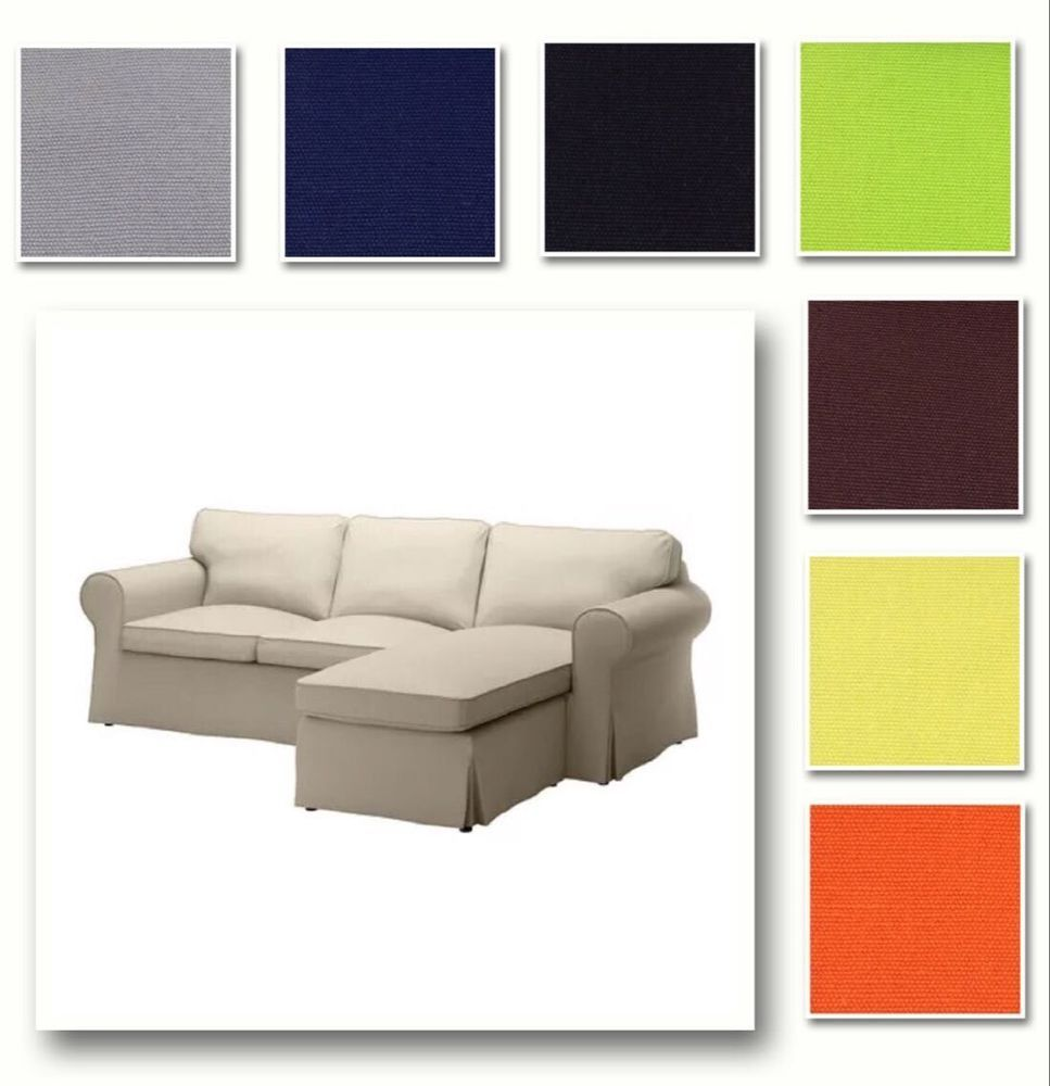 Custom Made Cover Fits IKEA EKTORP Loveseat U0026 Chaise Lounge, Replace Sofa  Cover #IKEA #Contemporary