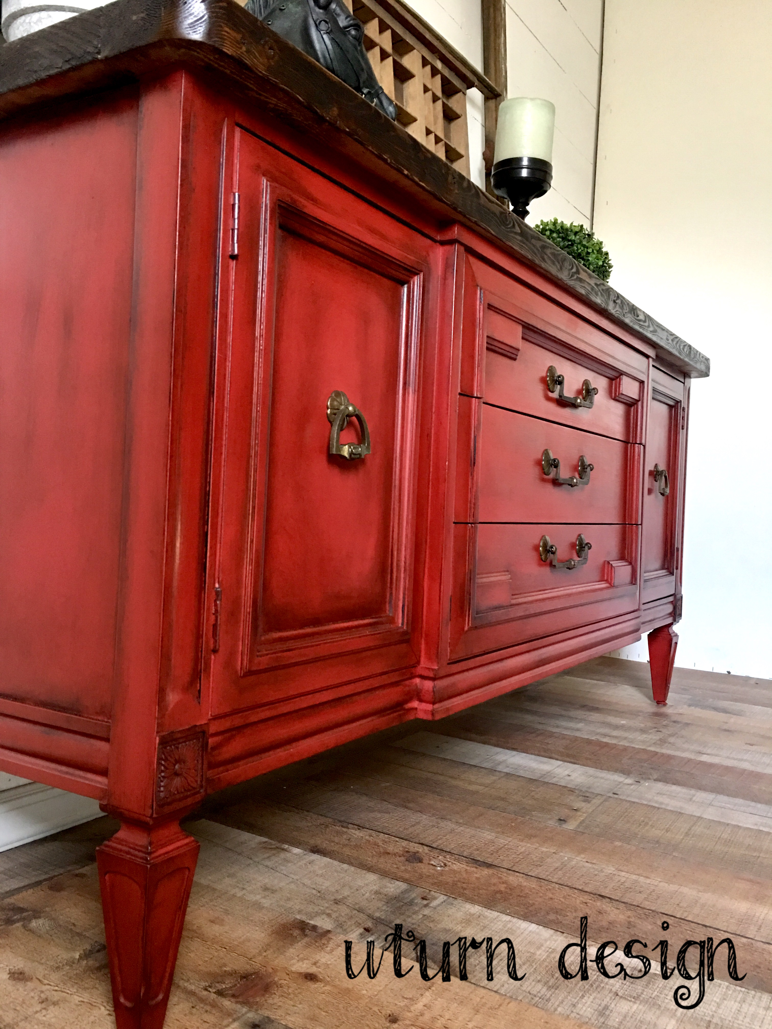 Farmhouse Red Painted Furniture By Uturn Design