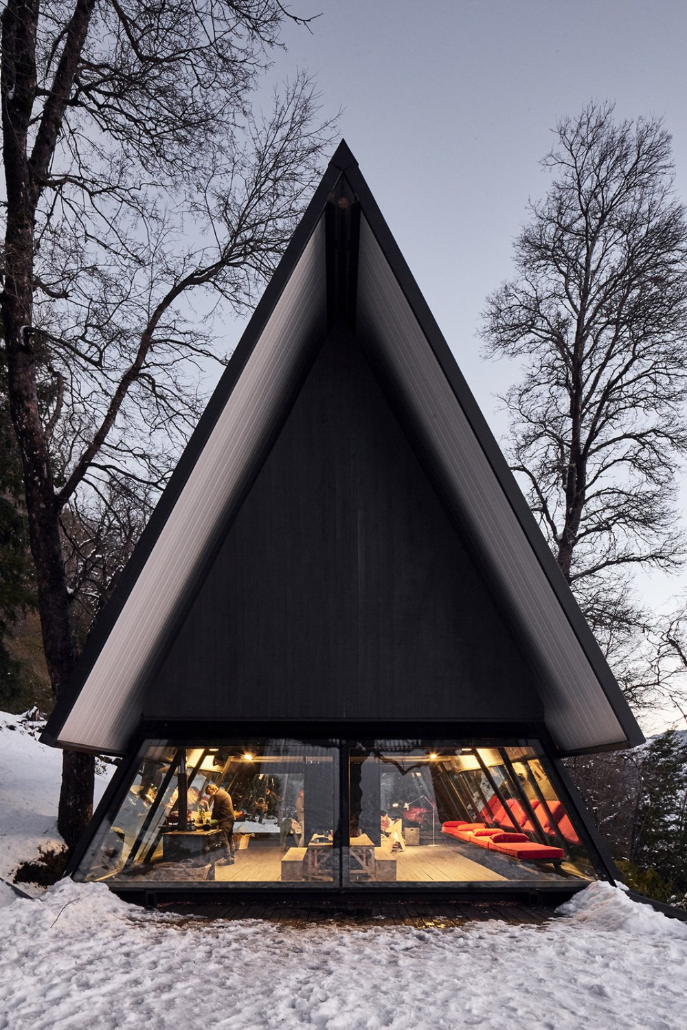 Photo 6 of 16 in Two Prefab Prisms Form an A-Frame