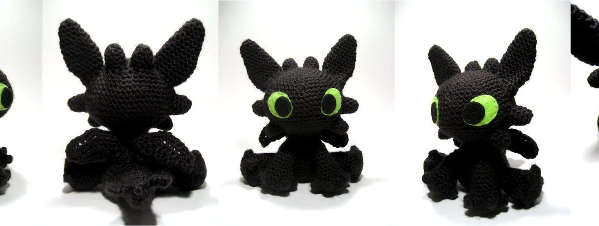 Here is my free pattern for my Toothless amigurumi -- while I ...