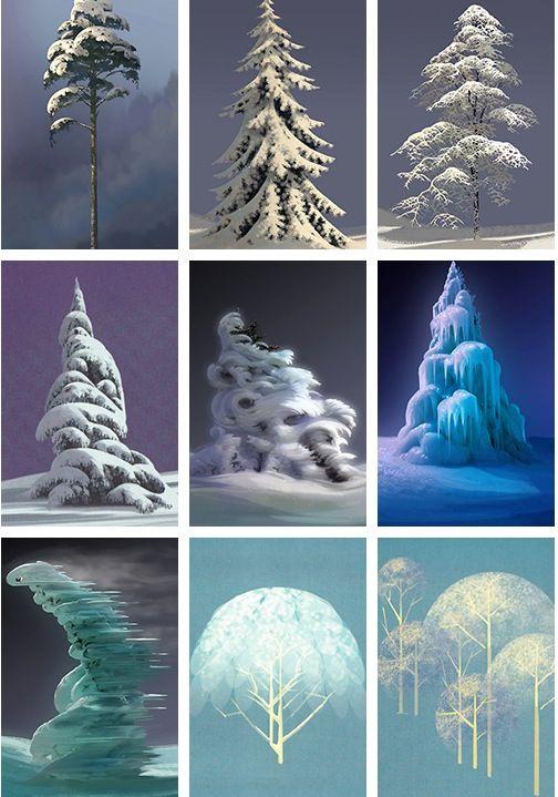 Frozen Art (2013) visual development, by Lisa Keene