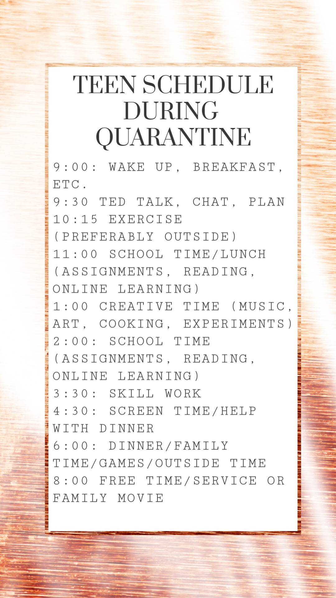 Photo of Teen Schedule during Quarantine COVID-19 #COVID19 #Parenting boys #Parenting gir…