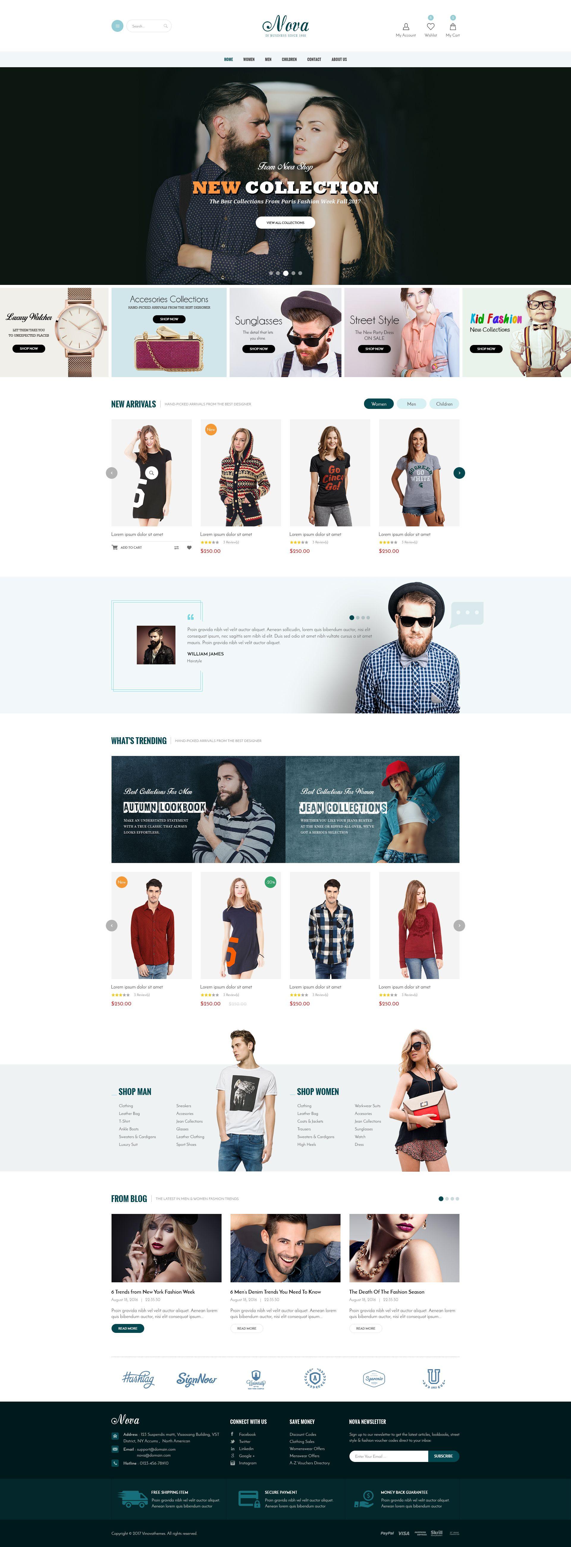 Nova Fashion, Clothing & Accessories Shopify Theme