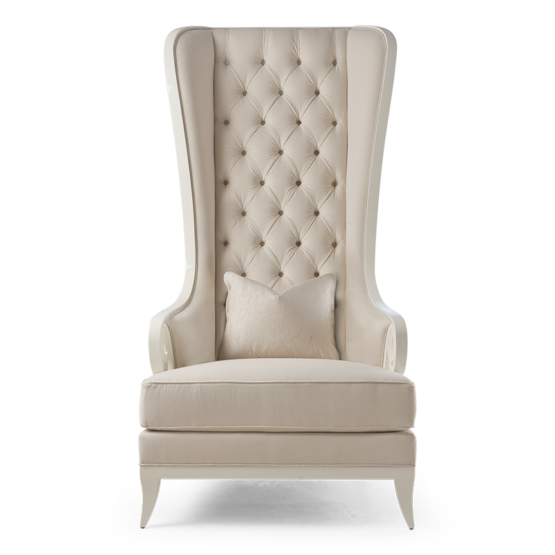 Tufted Wing Chair, High Back Wing Sofa
